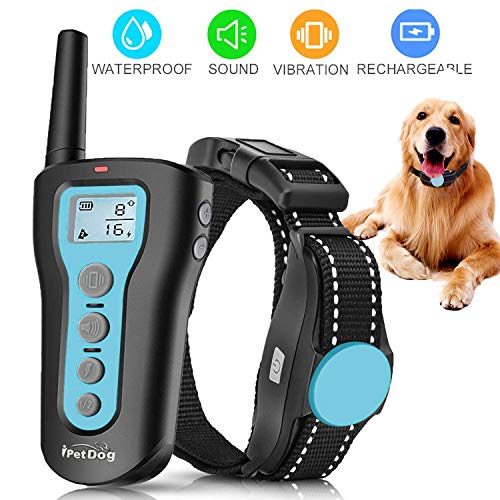 Dog Training Collar Dog Shock Collar 1000ft Remote Rechargeable & Waterproof with Beep Vibration Harmless Safe Shock Collar for Small Medium Large Dogs
