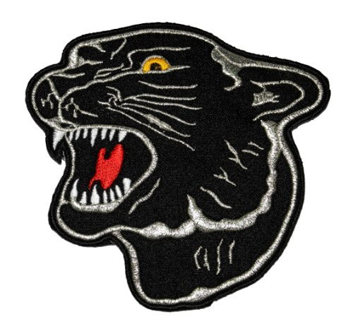 (black panther Leopard Zoo Safari Animal Wildlife DIY Applique Embroidered Sew Iron on Patch PT-01 )