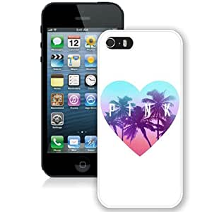 Hot Sale And Popular iPhone 5 5S Case Designed With Victoria's Secret Love Pink 16 White iPhone 5 5S Phone Case