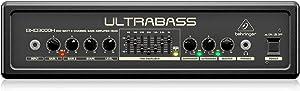 BEHRINGER BXD3000H Ultra-Lightweight 300-Watt 2-Channel Bass Amplifier Head with FBQ Spectrum Analyzer Black