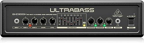 BEHRINGER BXD3000H Ultra-Lightweight 300-Watt 2-Channel Bass Amplifier Head