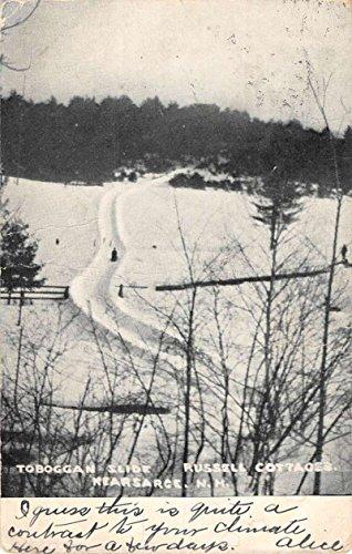 Kearsarge New Hampshire Russell Cottages Toboggan Slide Antique Postcard K84322