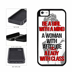 A Lady With Class Motivational Quote Dual Layer Phone Case Back Cover Apple iPhone 6 4.7 includes diy case Cloth and Warranty Label