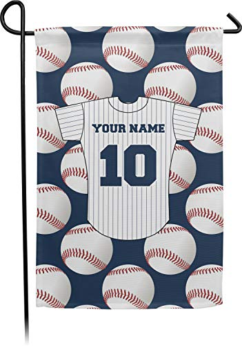 YouCustomizeIt Baseball Jersey Double Sided Garden Flag with Pole (Personalized)