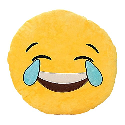 Smiley Emoticon Yellow Cushion Stuffed