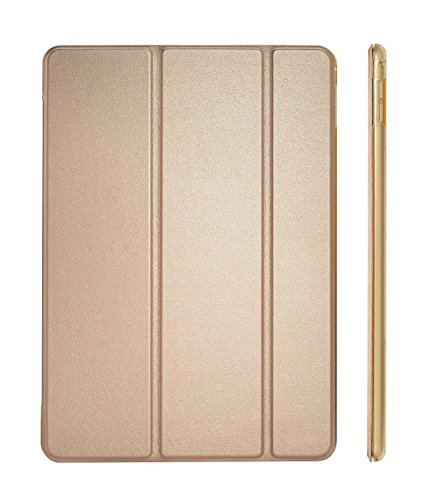 Dyasge iPad Air Case Cover, Smart Case Cover with Magnetic Auto Wake & Sleep Feature and Tri-fold Stand for Apple iPad Air (iPad 5) Tablet,Champagne Gold
