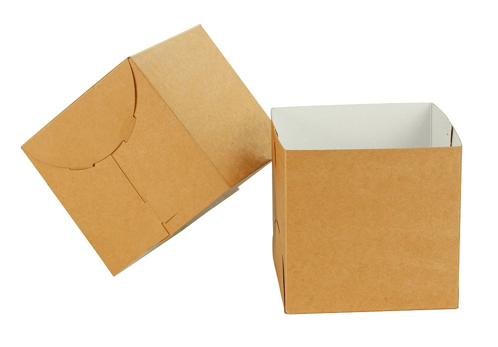 Natural Kraft Gift Box 2 Piece 100 Count 6x6x6 inch