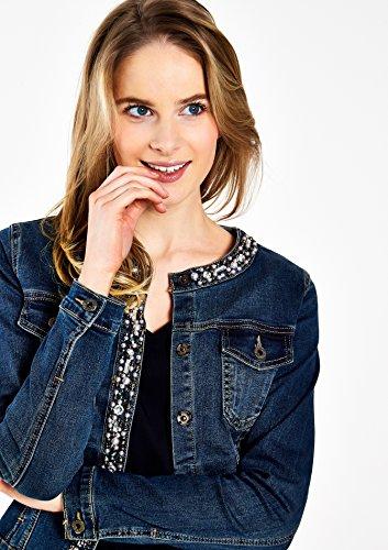 LOLALIZA - Veste en jeans avec strass et perles - Medium Blue - Tailles 36-44