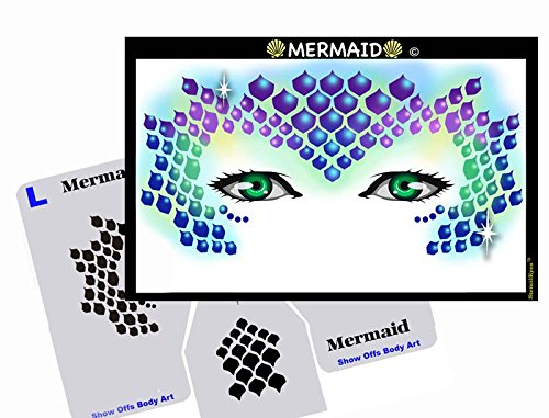 Face Painting Stencil - StencilEyes Mermaid]()