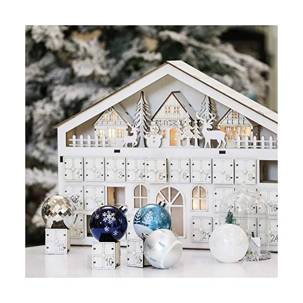 Valery Madelyn Palle di Natale 9 Pezzi 6cm Palle di Natale, Winter Wishes Argento e Blu Infrangibile Palla di Natale Ornamenti Decorazione per la Decorazione Dell'Albero di Natale 6 spesavip