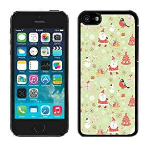 Best Buy Design Carton Iphone 5C TPU Case Merry Christmas Black iPhone 5C Case 1