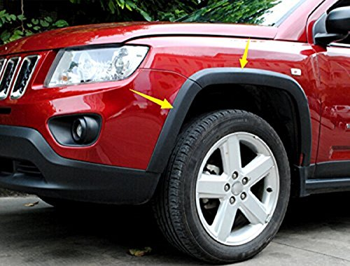Bolaxin 10 pcs Front rear Wheels Fender Flares Cover Protector Molding For Jeep Compass 2011-2015