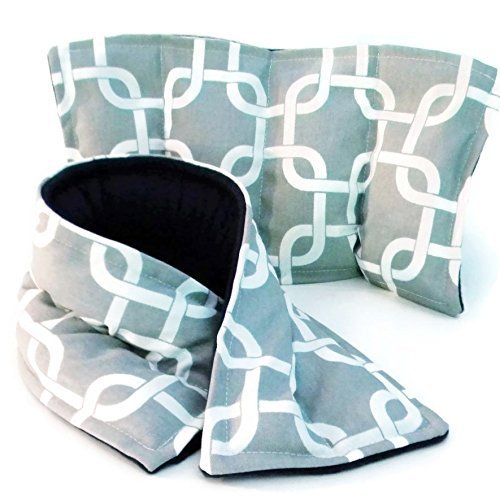 Microwave Heating Pad Neck Wrap and Rice Pack, Unscented or