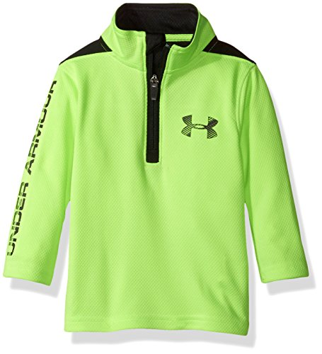 Under Armour Baby Boys Longevity 1/4 Zip Sweater, Quirky Lime, 18M