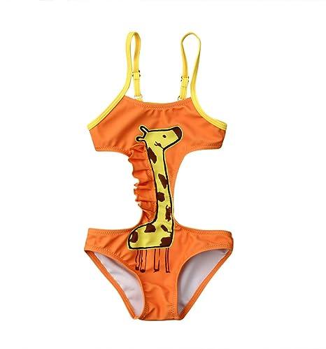 f57083079fd1 Lzxuan Traje de baño trajes de baño jirafa sin espalda ropa de playa ...