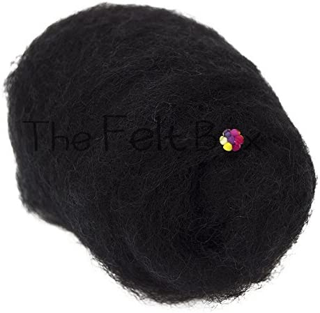 Snow White Carded Wool Batts For Needle Felting 50g