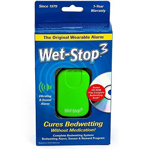 Wet-Stop3 Bedwetting Enuresis Alarm with Sound and Vibration, Comes in 3 Color Options, Curing Bedwetting For Over 35 Years by PottyMD LLC