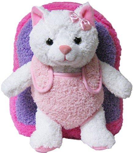 Pink Purple Kitty Kids Removable Plush Animal ()