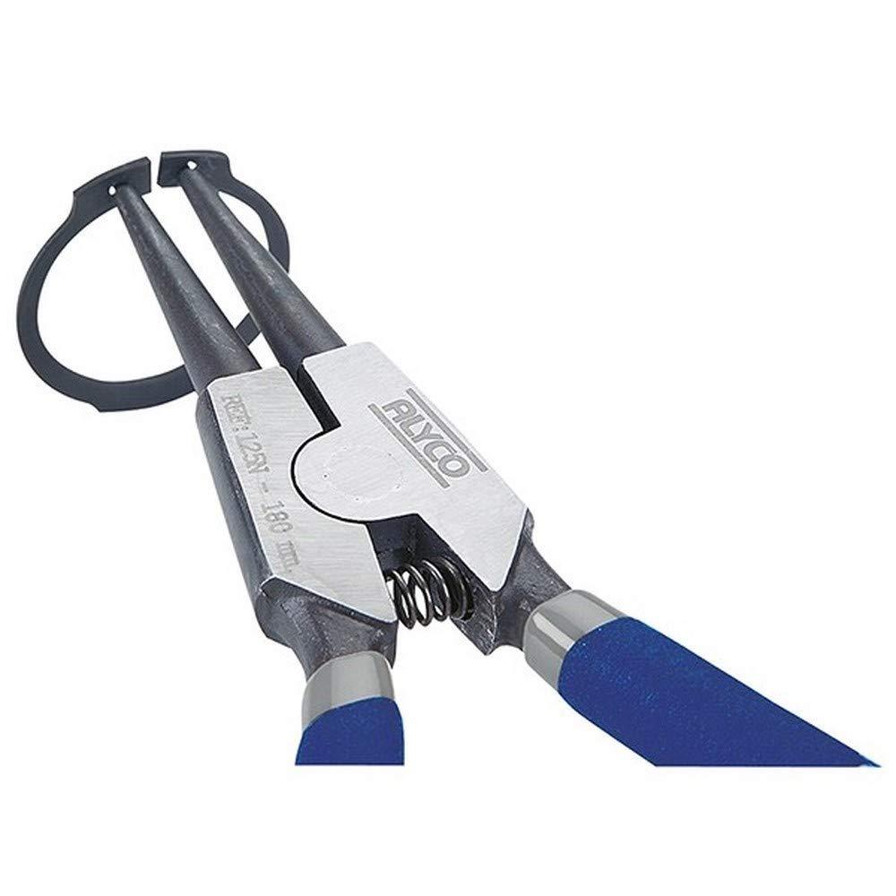 Alyco 106203 - Alicates para arandelas Seeger exteriores boca recta 180 mm: Amazon.es: Bricolaje y herramientas