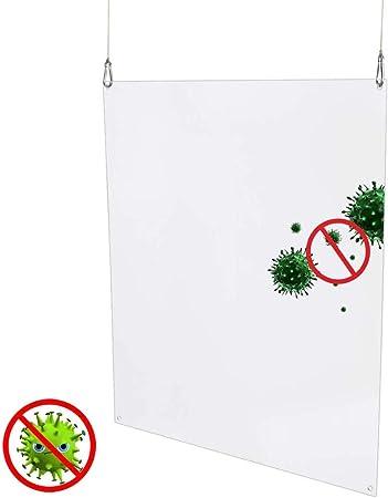 XNDCYX Mampara Protectora Colgante En Metacrilato Transparente Pantalla Protección Mostrador, Anti Contagio Separador Oficina para Protección De Espacio De Trabajo,40X60cm: Amazon.es: Hogar