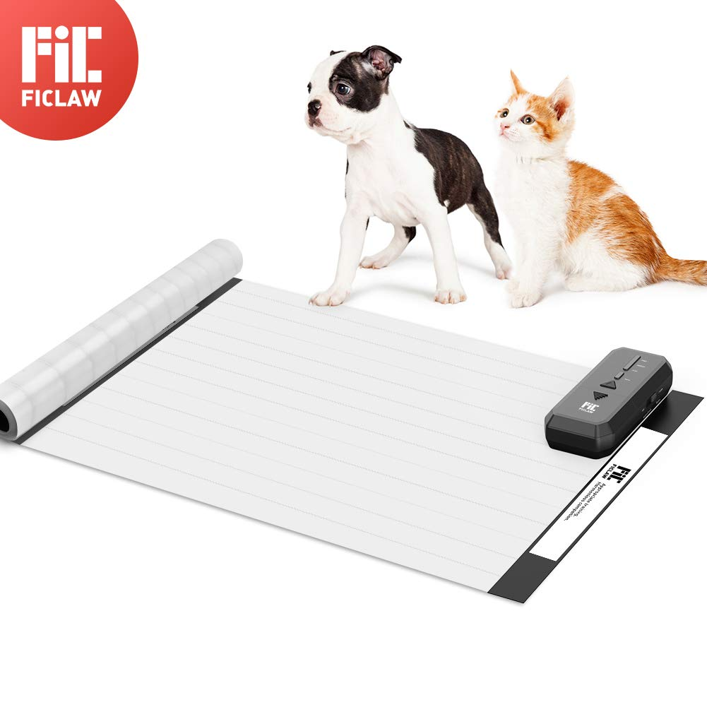 FICLAW Pet Shock Mat 60x12 Inches Pet Training Mat for Cats Dogs Pet Shock Pad with Intelligent Safety Protection Sofa Size for Furniture Bed Kitchen by FICLAW