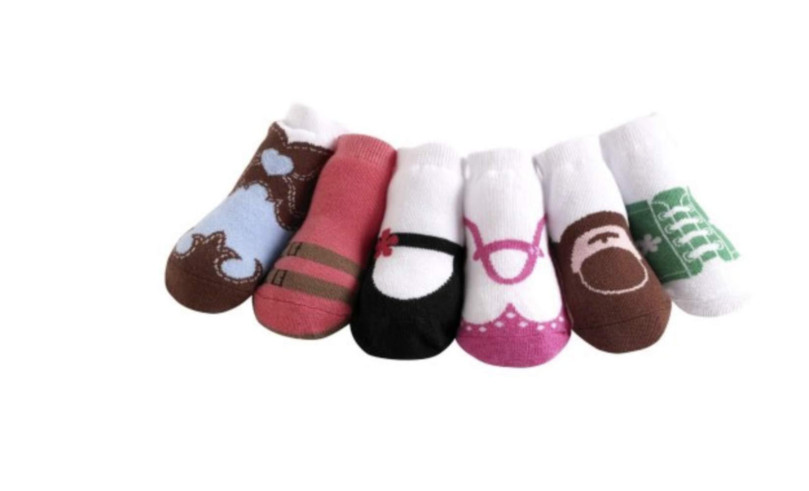 JazzyToes Baby 6 Pair Socks Original Variety - Girls, 0-12 Months by Jazzy Toes