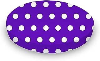 product image for SheetWorld Round Crib Sheets - Polka Dots Purple - Made In USA