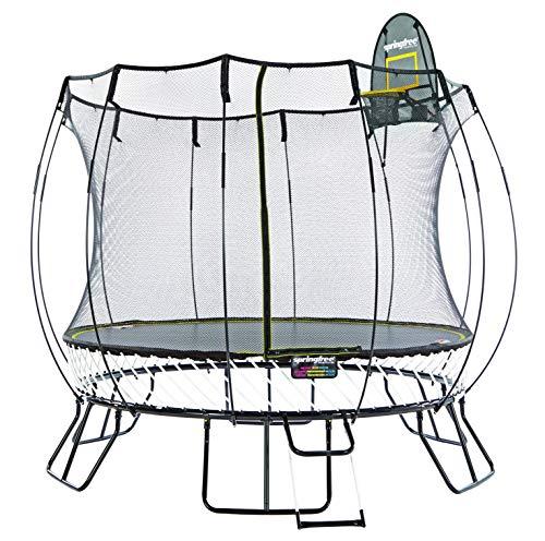 Springfree Trampoline - 13ft Jumbo Round Trampoline with Basketball Hoop, Ladder, Tgoma