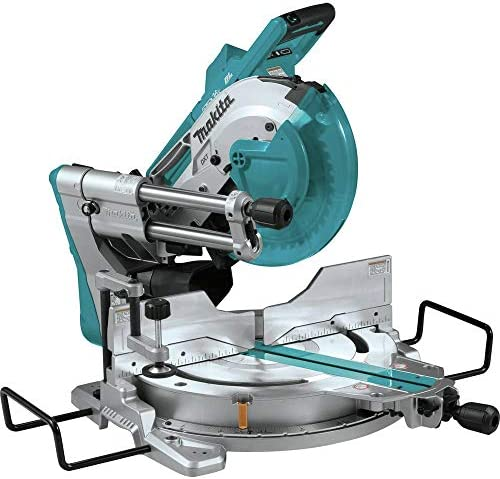 Makita XSL04ZU 18V x2 LXT Lithium-Ion 36V Brushless Cordless 10 Dual-Bevel Sliding Compound Miter Saw with Aws Laser, TOOL Only