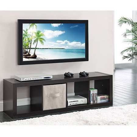 Better Homes and Gardens 4-Cube Organizer | Horizontal or Vertical display (Espresso) by Better Homes & Gardens
