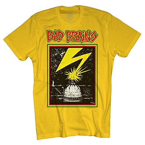 Merch Direct Bad Brains - Capitol On Yellow - T-Shirt - YEL