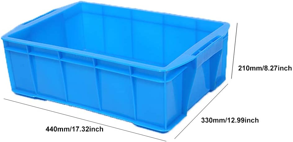 Storage Crate Solid Wall Utility Basket Non-Slip Texture Portable Handle Multiple Specifications to Choose from Blue