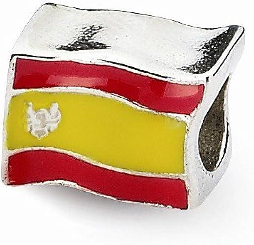 Joyería de la montaña de plata de ley bandera de España cuenta para pulsera compatible con Pandora Chamilia Biagi pulsera: Amazon.es: Joyería