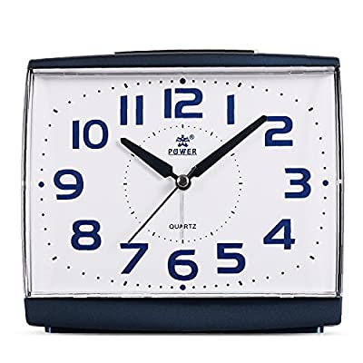 POWER Non Ticking Household Alarm Clock for Bedrooms with Light and Snooze - Free warranty for one year,if there were any question,contact us Second hands moves no-ticking,best choice for bedrooms. Snooze and Night Light Function--- no more worries to sleepover,and (built-in lamp) is perfect at night - clocks, bedroom-decor, bedroom - 51bRAjc7r9L. SS400  -