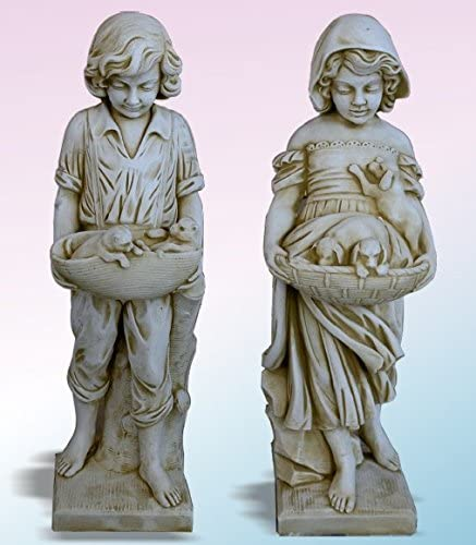 DEGARDEN Figura Estatua Abeldecorativa para jardín o Exterior ...