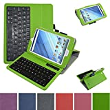 "Acer Iconia One 8 B1-850 Bluetooth Keyboard Case,Mama Mouth Coustom Design Slim Stand PU Leather Cover With Romovable Bluetooth Keyboard For 8"" Acer Iconia One 8 B1-850 Android Tablet,Green"
