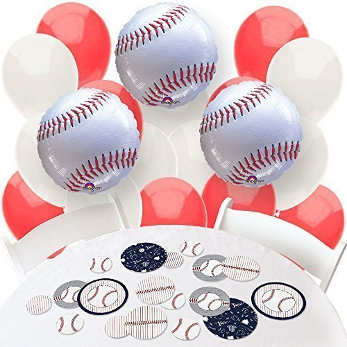 Batter Up - Baseball - Confetti and Balloon Baby Shower or Birthday Party Decorations - Combo Kit]()