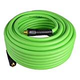 PowRyte Elite 300 PSI Hybrid (PVC/Rubber) Air Hose - 3/8-Inch by 100-Feet, 1/4-Inch MNPT Brass Ends