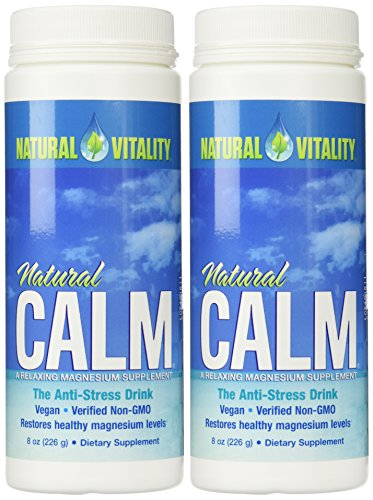 Mama Calm Raspberry (Natural Vitality Natural Magnesium Calm (2 Bottles of 8 Ounce))
