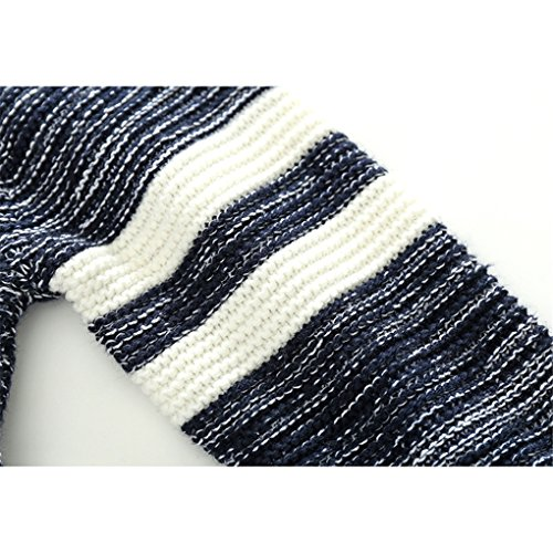 Little Boys Stripes Knitting Sweater Crewneck Sweatshirt Cotton Pullover Pajamas Deep Blue Size 100 by SanReach (Image #6)