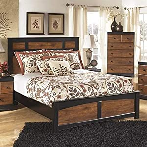 Ashley Furniture Aimwell Wood Queen Panel Bed in Brown