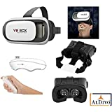 """ALDIVO ® VR BOX, With Bluetooth Controller, Virtual Reality Headset Version 2.0 . 3D Glasses Adjust Cardboard Vr Box For 3.5~6.0"""" Mobiles"""