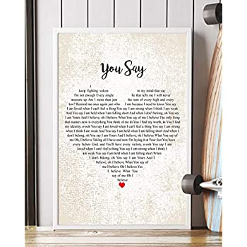 You Say Lyrics Lauren Daigle >> Amazon.com: Lauren Daigle You Say Tree Birds Lyrics No
