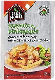 Club House, Organic Gravy Mix, Turkey, 25g, Case Pack 18 Count