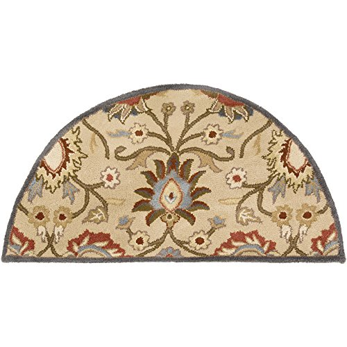 Beige Hand Tufted Wool Hearth - Surya Caesar CAE-1116 Hand Tufted Wool Hearth Classic Accent Rug, 2-Feet by 4-Feet