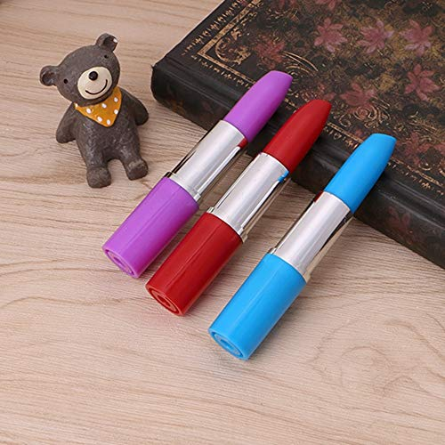 - Hariier 2PCS Lipstick Shaped Ballpoint Pen Cute Rollerball Pen New Stationer Ballpen