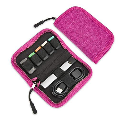 Carrying Case Compatible with JUUL, SummerPlus Travel Storage case for Your Pocket or Bag (Device not Included) (Rose Red)