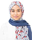 Silk Route New Wind Chime & Blueprint Geo Delight Viscose Stole Scarf Ladies Wrap Hijab Regular Size
