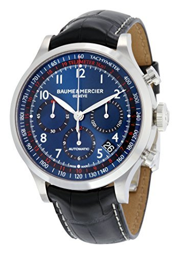 Baume Mercier Mens Watches - Baume and Mercier Blue Dial Chronograph Automatic Mens Watch MOA10065