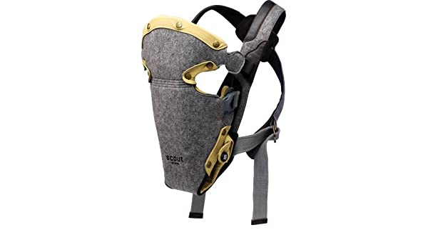 f5f0b94592a Amazon.com  Petunia Pickle Bottom Scout Walkabout Baby Carrier Grey Felt  With Black And Lime Liners  Baby